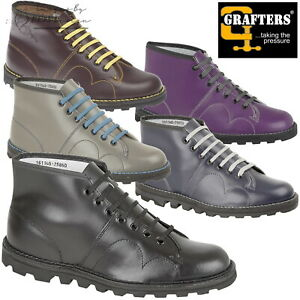 526420fe6f Details about Grafters Monkey Boots Men's Women's Kids Retro Leather Shoes  CLEARANCE SALE