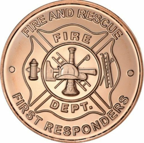 Fire Department 1 oz Copper Round
