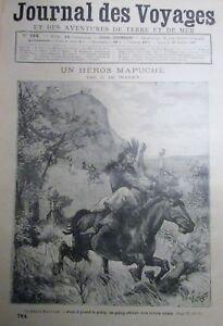 Zeitung-der-Voyages-Nr-784-von-1892-Indianer-Heros-Mapuche-die-Klarglas-in