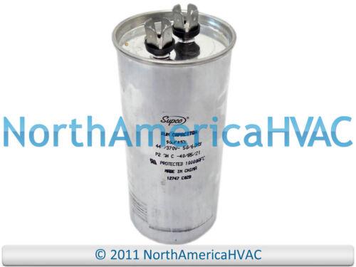 NEW Motor Round Single Run Capacitor 90 MFD 370 440 VAC Volt Supco CR90x440R