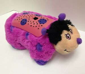 Dream Lites Pillow Pet Hot Pink Lady Bug Starry Sky Night Light