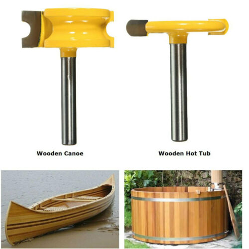 """2pc 1//4/"""" Shank Canoe Flute and Bead Router Bit Wood Cutter Woodworking Tool"""