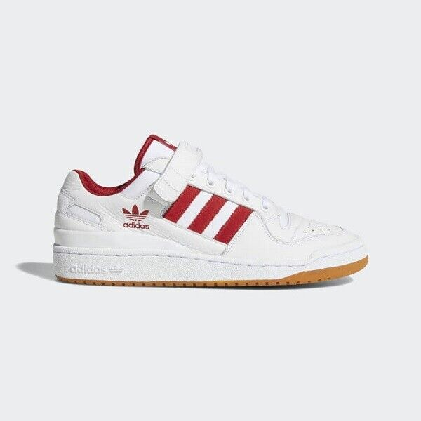 Adidas Men Women Forum Lo Athletic Shoes Sneakers White Red B37769 Sz 4-12