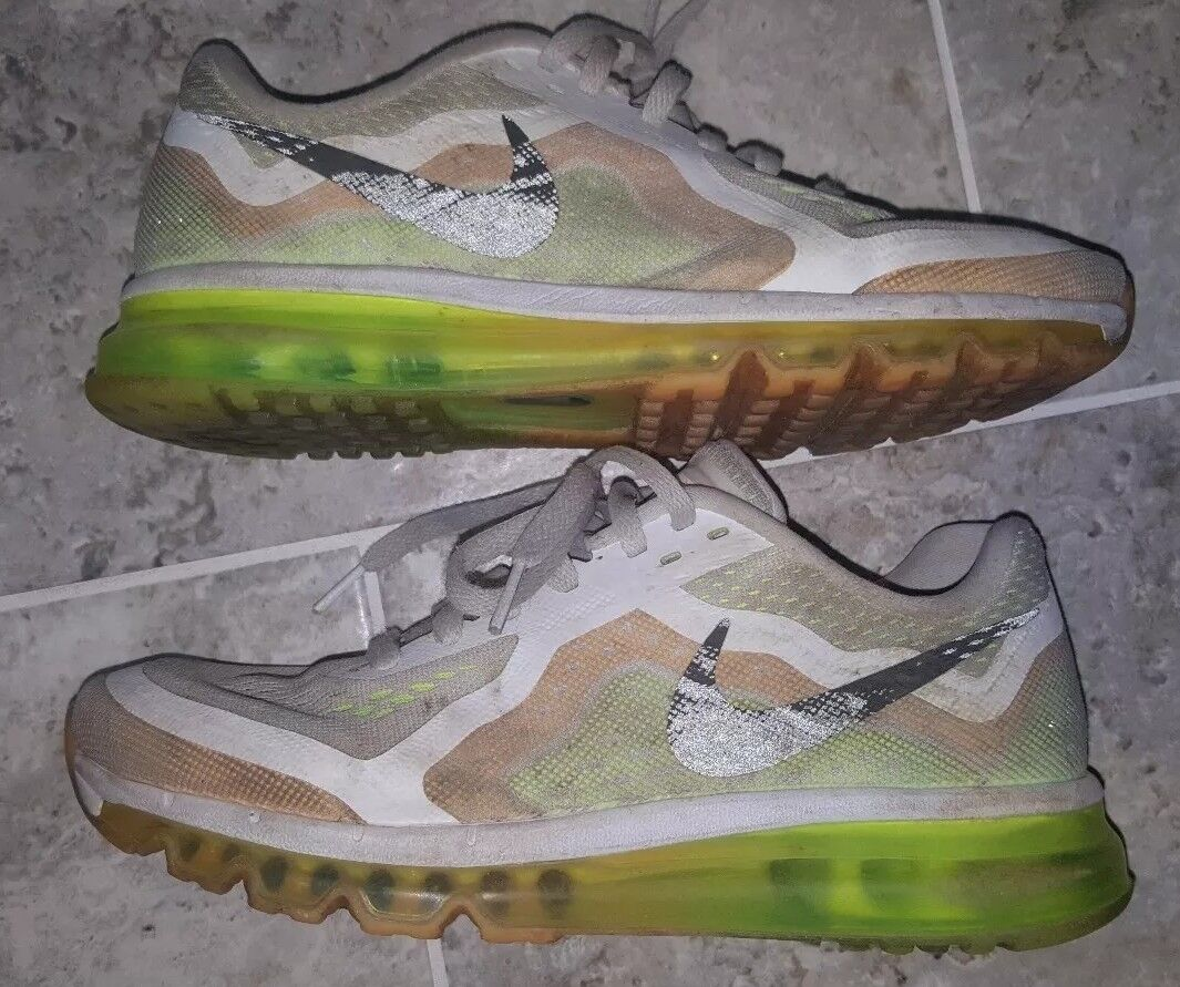 NIKE AIR MAX WOMENS LIME/ORANGE/WHITE Sz 8.5 NEUTRAL RIDE 621078-101 LIME/ORANGE/WHITE WOMENS NICE f8dfd0