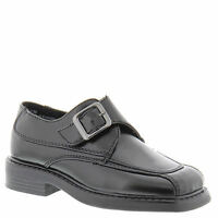 Boys Black Dress Shoes With Hook And Loop Closure Little Boys Size 10 M
