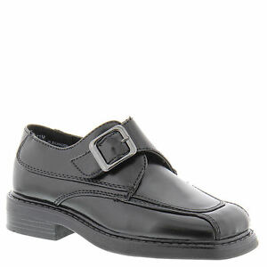 Image is loading School-Shoes-Boys-Black-Adjustable-Closure-Little-Boys- 5b94db4ca7ef