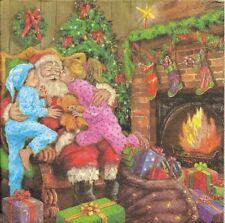 Lot de 4 Serviettes en papier Père Noël Enfants Decoupage Collage Decopatch