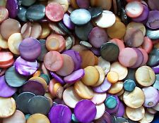 1/2 lb Pound LOT Mix Assorted Multi Shell Coin Beads Purple Orange Brown 8 oz