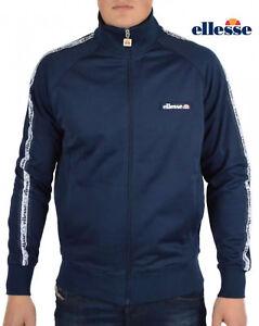 Ellesse-Men-s-Track-Top-Jacket-Navy-Blue-Liscia