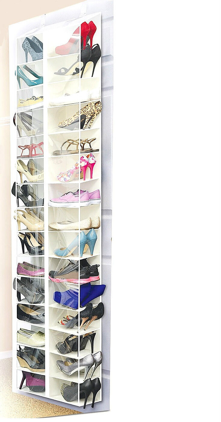 Shoes Away Hanging Shoe Organizer Stores 30 Pairs White For Sale Online Ebay