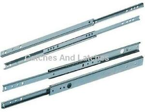 Drawer-Runners-Groove-Ball-Bearing-17mm-27mm-All-Sizes-Metal-Draw-Slides