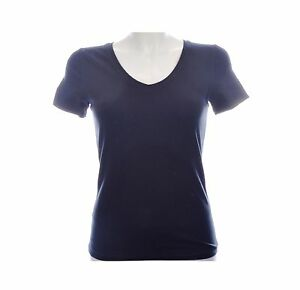 Dames-basic-t-shirt-top-korte-mouw-v-hals-zwart-wit-ecru