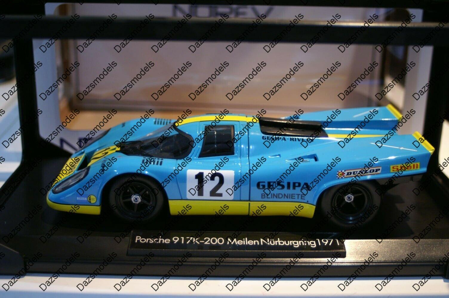 artículos novedosos Norev Norev Norev Porsche 917k Nurburgring 1971 Gesipa escala 1 18 187580K  los clientes primero