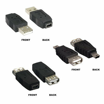 USB Type A to B Female to Female F//F Adapter Converter