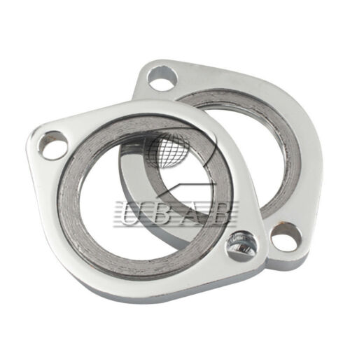 STEEL EXHAUST FLANGE W// RETAINING RING FOR HARLEY 84-17 BIG TWIN SPORTSTER DYNA