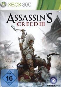 XBOX-360-Assassins-Creed-3-III-Deutsch-Gebraucht-Neuwertig
