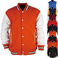 Men American Baseball Letterman Varsity College University Jacket Jersey Uniform