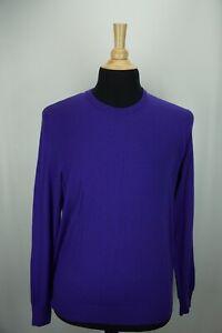 Ralph-Lauren-Purple-Label-RLPL-Purple-100-Cashmere-Crewneck-Sweater-L-Italy