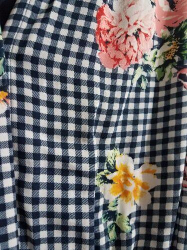 DR2 Daniel Rainn Women/'s navy /& white checkered and floral Pockets NWT L XL