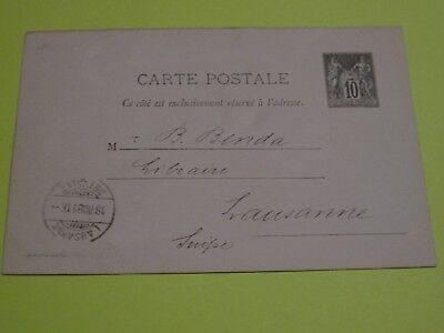 Franhreich,3 Ganzsachen-postkarte Von 1881/85 An H Benda Verleger Lausanne Briefmarken Ganzsache