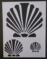 Scallop Beach Seashell Sea Shells Multiple 8.5 X 11 Stencil Free Shipping