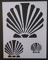 Scallop Beach Seashell Sea Shells Multiple 8.5 X 11 Stencil Free Shipping