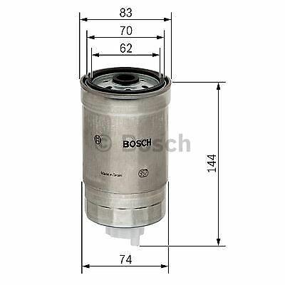 Bosch Filtro de combustible adapta a Hyundai i40 1.7 CRDi Reino Unido Distribuidor Bosch