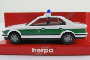 Herpa-042598-bmw-535i-Limousine-1988-1992-034-policia-Baviera-034-1-87-h0-nuevo-en-el-embalaje