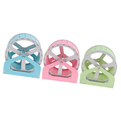 Wheel Running Exercise Plastic Scroll Silent Hamster Mouse Rat Gerbil Pet Toy TC