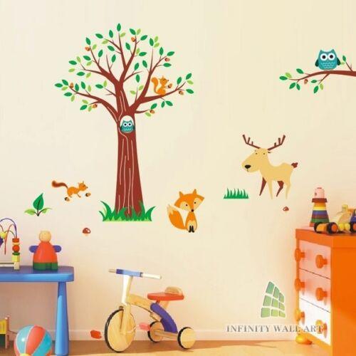 Wall Stickers Tree Flower Nursery Kids Wall Art Decal Butterfly Vinyl Decor)P312