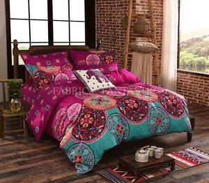 Mandala-Duvet-Doona-Quilt-Cover-Set-Queen-King-Super-King-Size-Bed-New-Bohemian