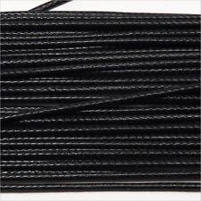 Cordon Coton Ciré 1mm – 4m Noir pour Colliers et Bracelets de perles