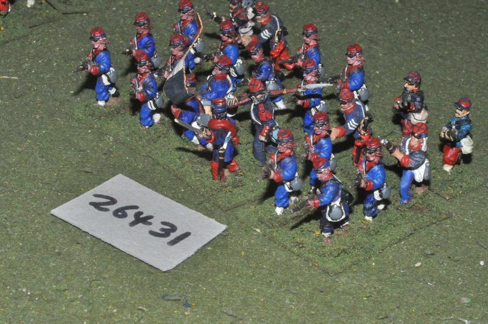 25mm 19th century   french - line 24 figures - inf (26431)