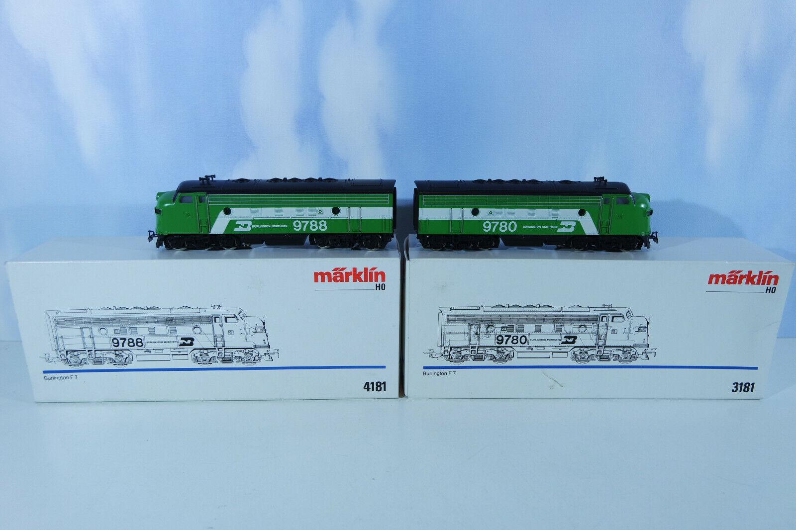 Märklin 3181 4181 us Digital f7 con original Märklin decodificadores, utilizada, embalaje original