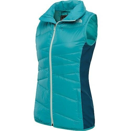 NEW  THE NORTH FACE Hyline  - women's hybrid down 600 vest size XS bluee NEW