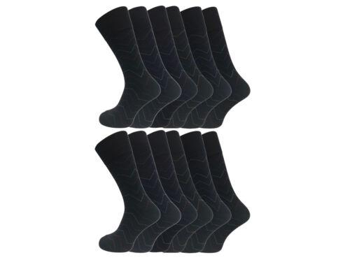 Men/'s Zig Zag Pattern Cotton Rich Everyday Socks UK 7-11 EU 39-45