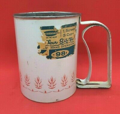 VINTAGE 3 Cup Androck Flour Sifter