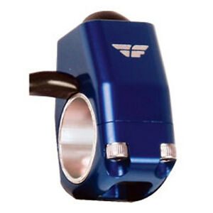 Fly Racing Anodized Blue Billet Kill Button Stop Switch Universal Push MX
