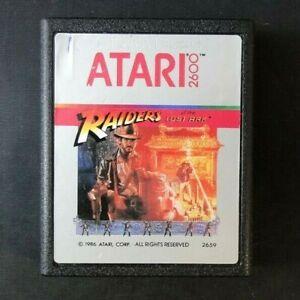 Atari 2600 Game Cartridge Silver Label 1986 Raiders Lost Ark Label Error Rare