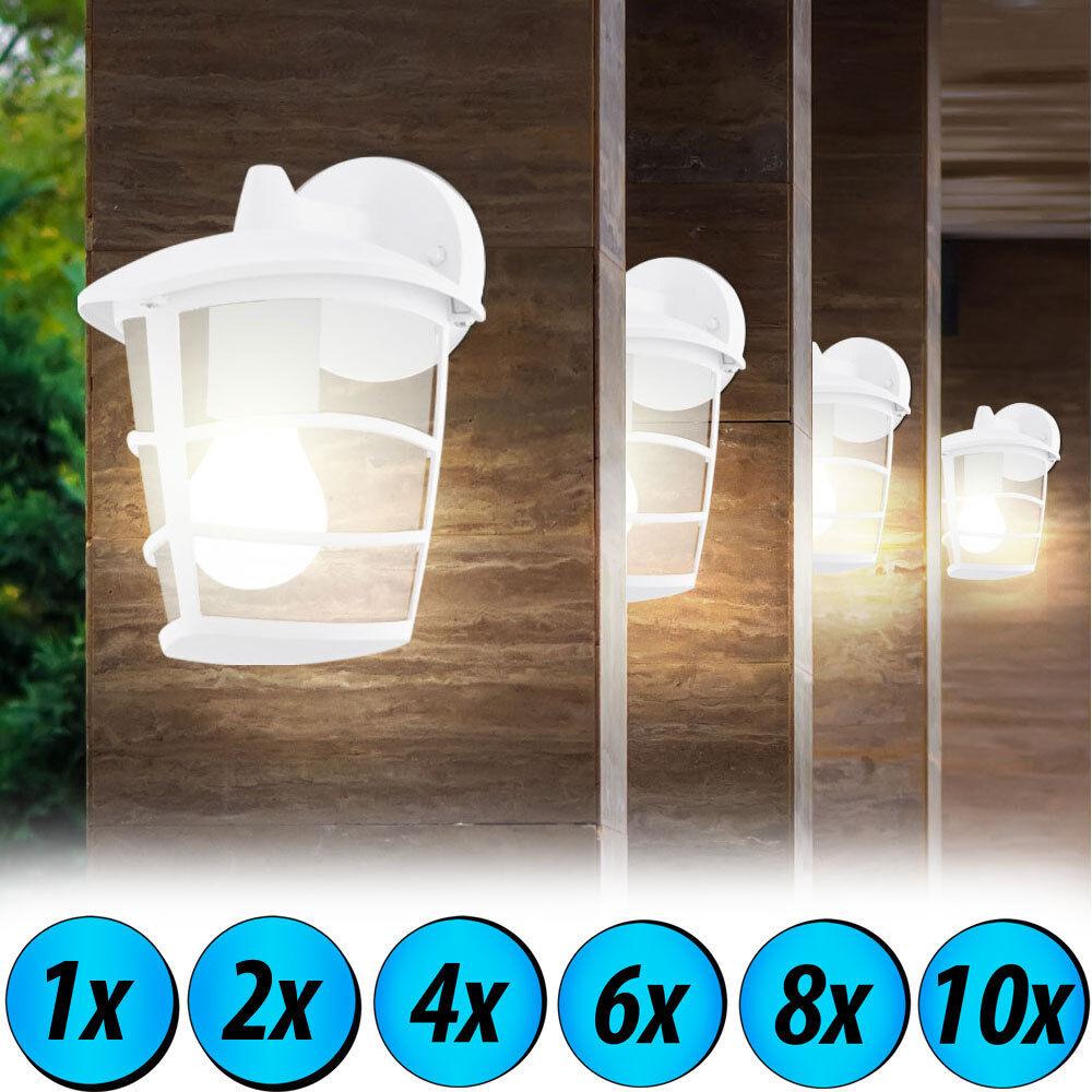 1-2-4-6-8-10x LED mur extérieur lampes mur ALU projecteurs de terrain noble
