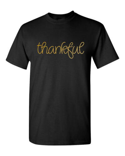 Thankful T-Shirt Thanksgiving Tee Shirt Blessed Grateful Gift For Him
