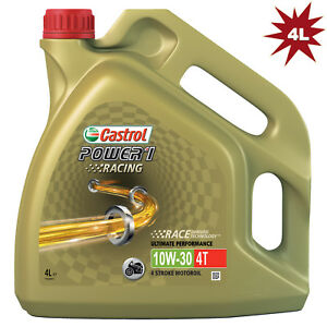 castrol power 1 racing 4t 10w 30 synthetic motorcycle bike. Black Bedroom Furniture Sets. Home Design Ideas