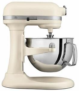 Details about KitchenAid RKP26M1XFL Professional 600 Stand Mixer 6 quart  Matte Fresh Linen