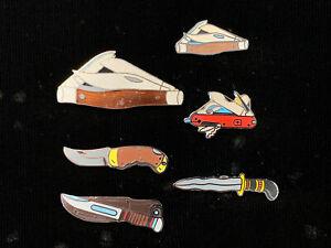 1980-039-s-Vintage-Mafco-Messer-Sammlung-Menge-6-NEU-Hut-Pin-Revers-Weste