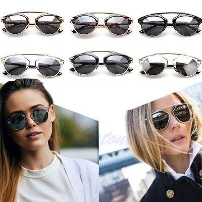 Men Women Cat Eye Mirror Vintage Christian Designer Oversized Glasses Sunglasses