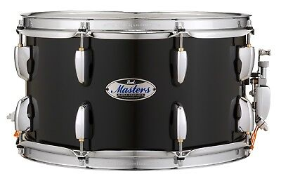 """Pearl Masters Complete MCT 13/"""" Dia X 7/"""" Deep Snare Drum//#103//PIANO BLACK//New"""
