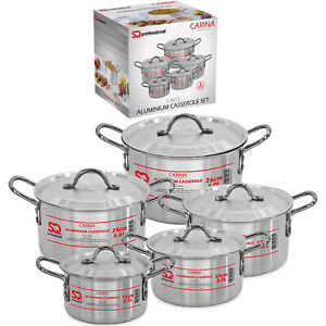 5pc-Casserole-Set-Cooking-StockPot-Pan-Aluminium-Oven-Safe-With-Lid-Carina-Large