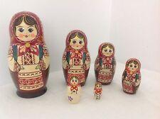 Russian Nesting Dolls, Matryoshka, Traditional Apron & Dress