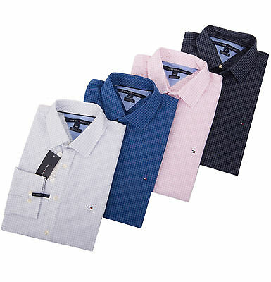 Tommy Hilfiger Men Long Sleeve Button Down Plaid Dress Shirt $0 Free Ship