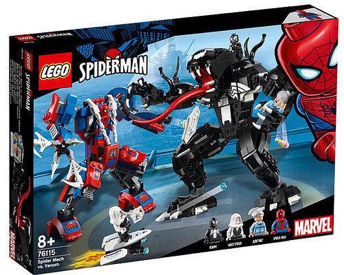 LEGO SUPER HEROES  MARVEL 76115 MECH DI SPIDER-uomo VS VENOM   NUOVO  da non perdere!